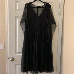 NWT TORRID black mesh/lace dress